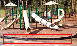 playground with plastic borders