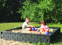 Plastic Borders - Playground Equipment - Sandbox - Plastic Timber Sandbox