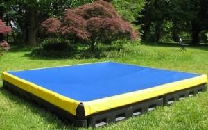 plastic sandbox and cover