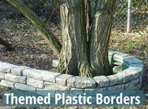 stone and rock plastic borders