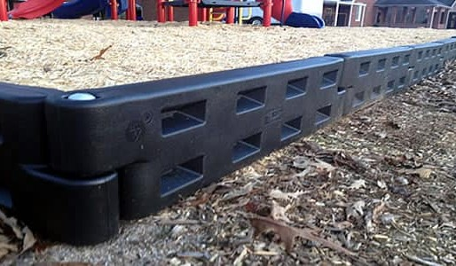 plastic border timbers for the playground