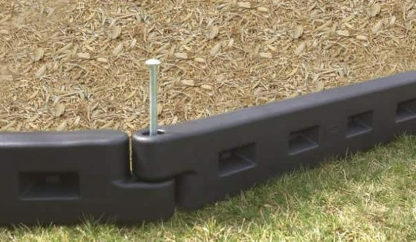 plastic playground bordering