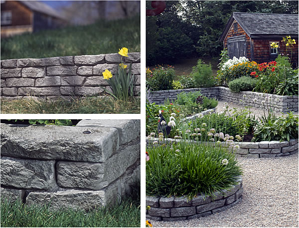 stone themed plastic borders